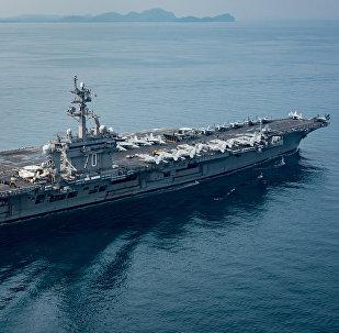 Porta-aviões USS Carl Vinson em 15 de abril de 2017