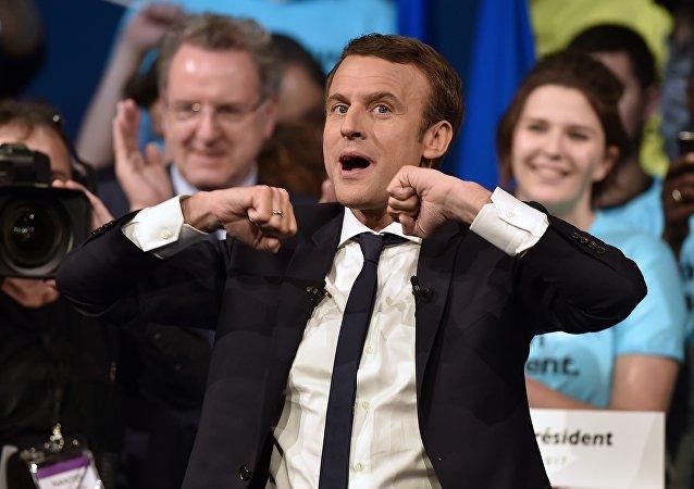 Emmanuel Macron, vencedor do primeiro turno da eleição pela presidência da França