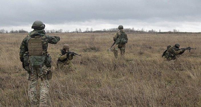 Instrutores americanos em Donbass