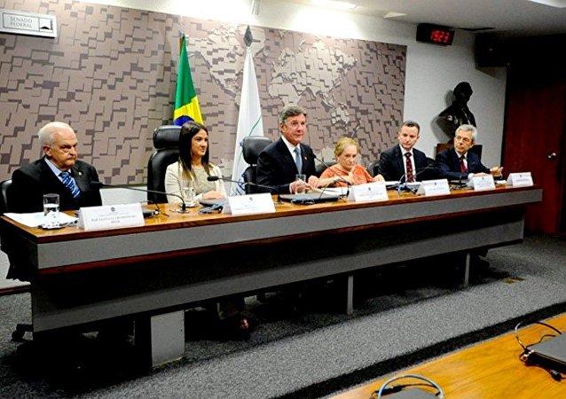 Comissão de Relações Exteriores (CRE) do Seando durante audiência sobre a situação da Rússia e seu papel na geopolítica mundial