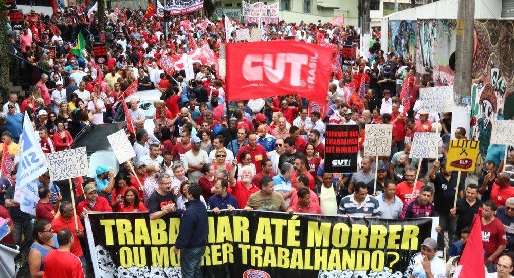Até a greve geral do dia 28 de abril as categorias realizam um esquenta se mobilizando pelo país