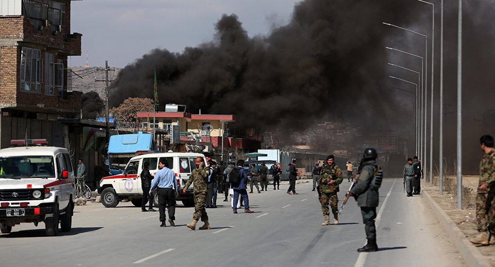 Explosão em Cabul, no Afeganistão, em março de 2017