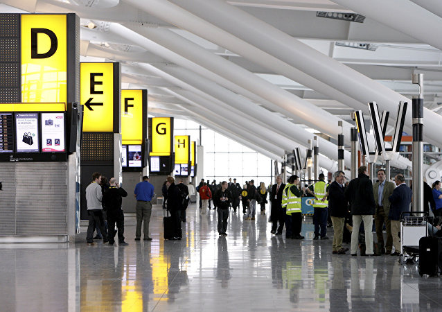 Terminal 5 do aeroporto de Heathrow, em Londres, Inglaterra
