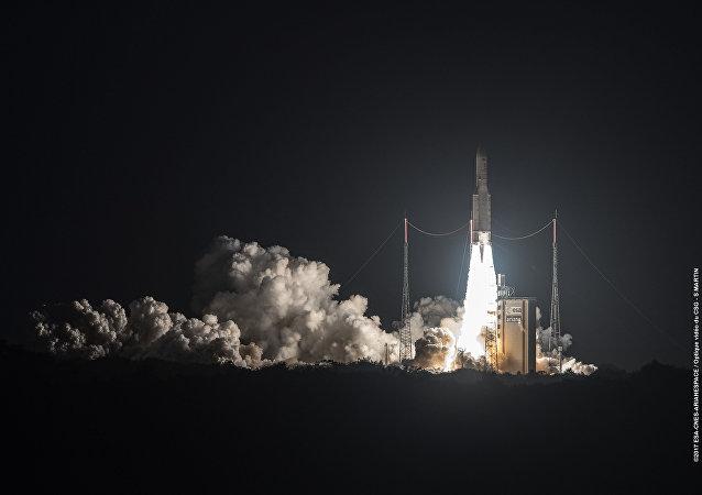 Lançamento do satélite brasileiro do Centro Espacial de Kourou, na Guiana Francesa