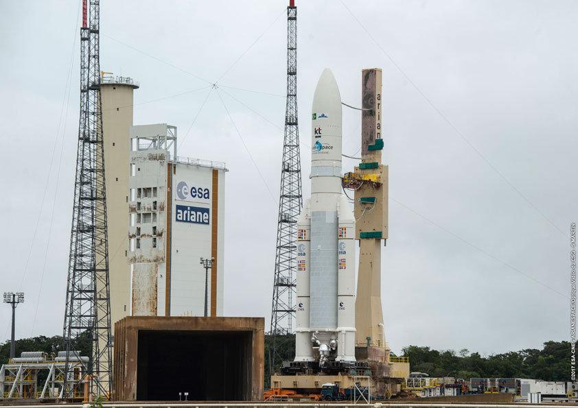 Primeiro satélite geoestacionário brasileiro para defesa e comunicações estratégicas é lançado ao espaço.