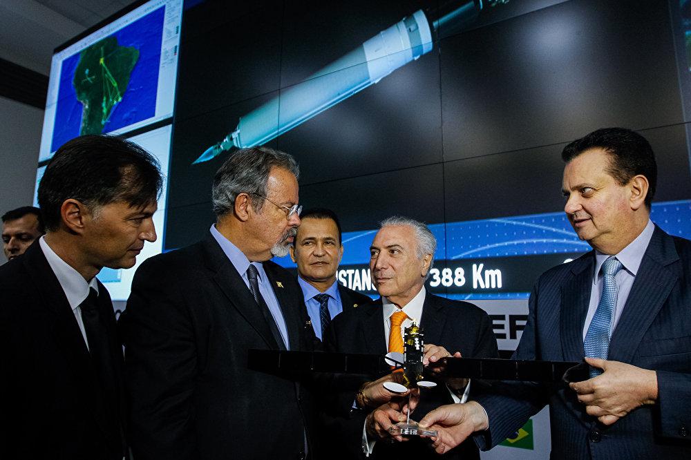 Presidente Temer participa do lançamento do satélite brasileiro que será usado para comunicações e defesa