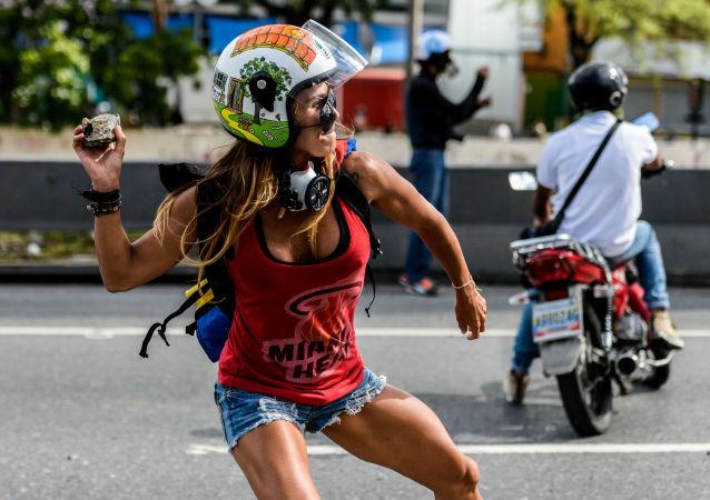 Protestos antigovernamentais em Caracas, Venezuela