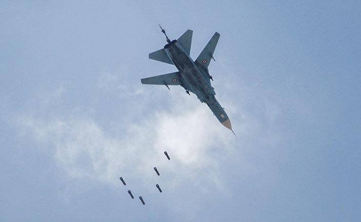 MiG-23 sírio durante a operação em Kabun, 6 de maio de 2017
