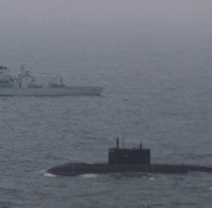 Submarino russo Krasnodar atravessou o canal da Mancha