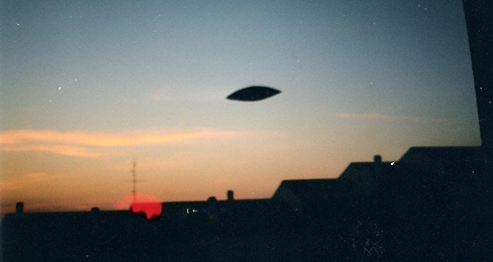 Un UFO nel cielo