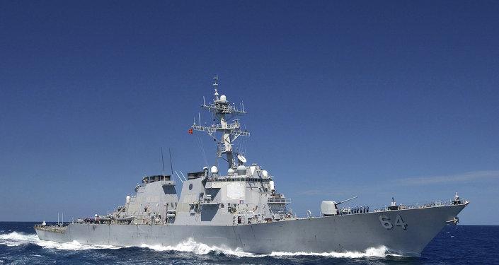 Destróier USS Carney, da Marinha dos Estados Unidos (arquivo)