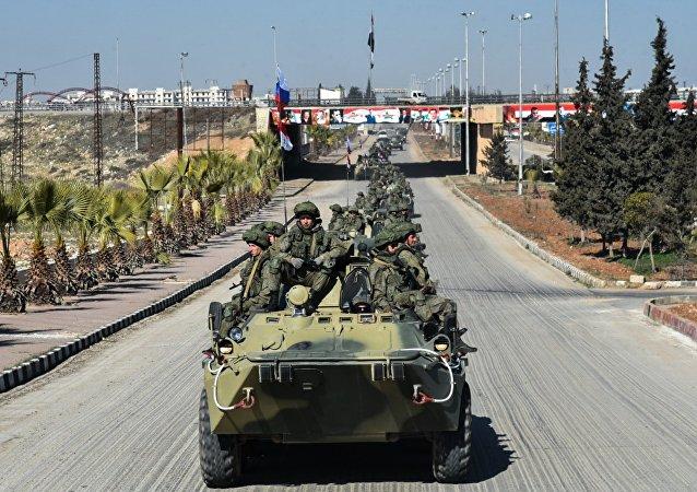 Retirada de engenheiros militares das Forças Armadas russas de Aleppo.