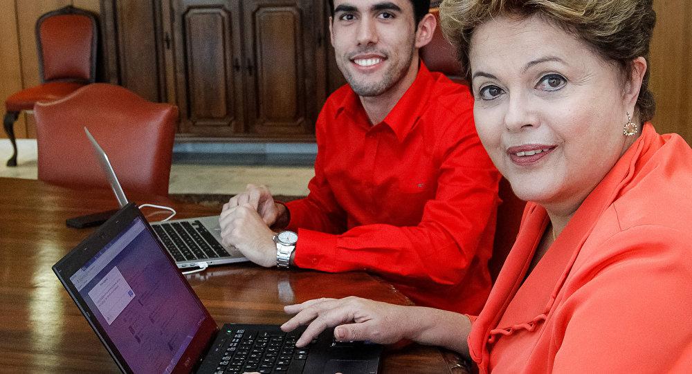 Jefferson Monteiro e Dilma Rousseff