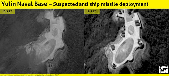 China deslcoa os sistemas de mísseis no mar do Sul da China
