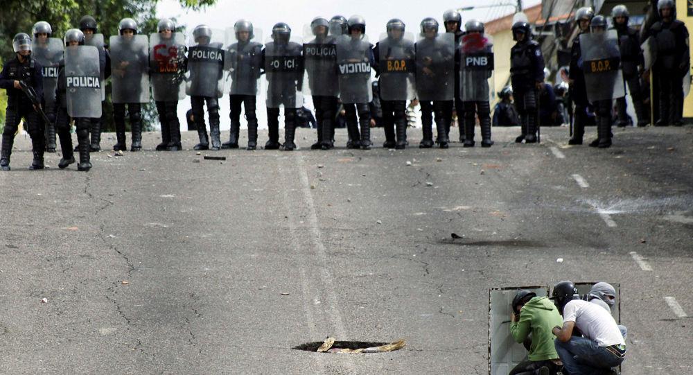 Protestos antigovernamentais em Venezuela
