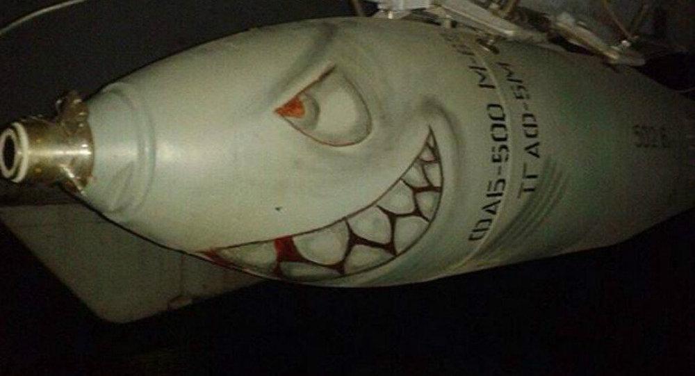 Uma bomba russa com focinho de tubarão