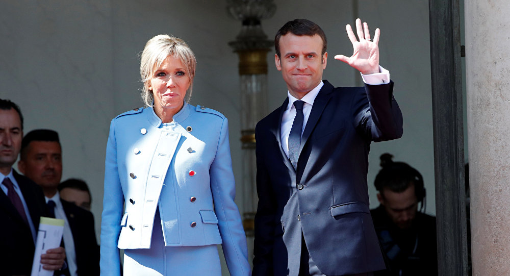 Emmanuel Macron e Brigitte Trogneux