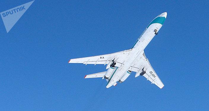 Avião Tu-154, foto de arquivo