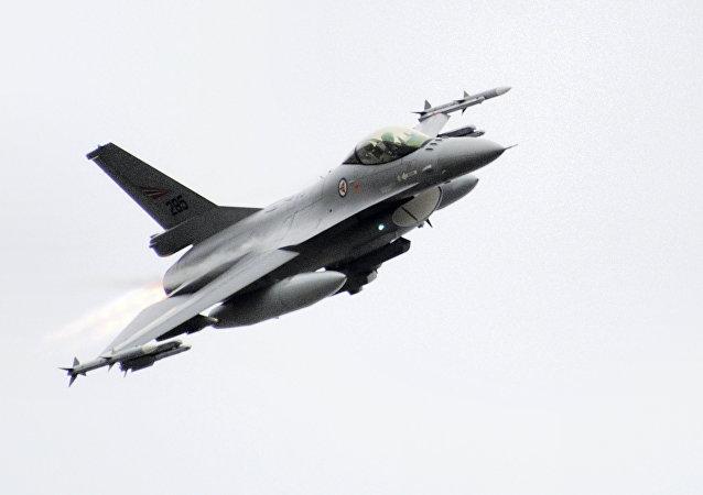 Caça F-16 da Força Aérea da Noruega (foto de arquivo)