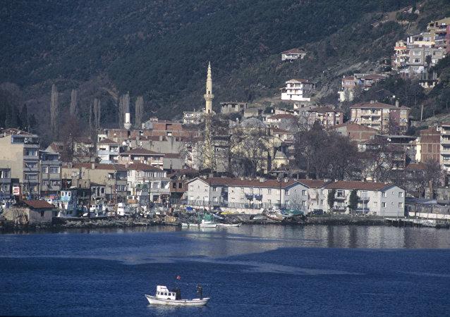 O litoral de Istambul visto do estreito de Bósforo (foto de arquivo)