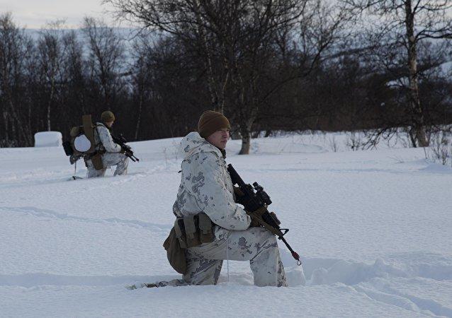Os militares norte-americanos na Noruega