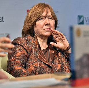 Svetlana Aleksievich, a escritora galardoada com o Nobel da Literatura de 2015