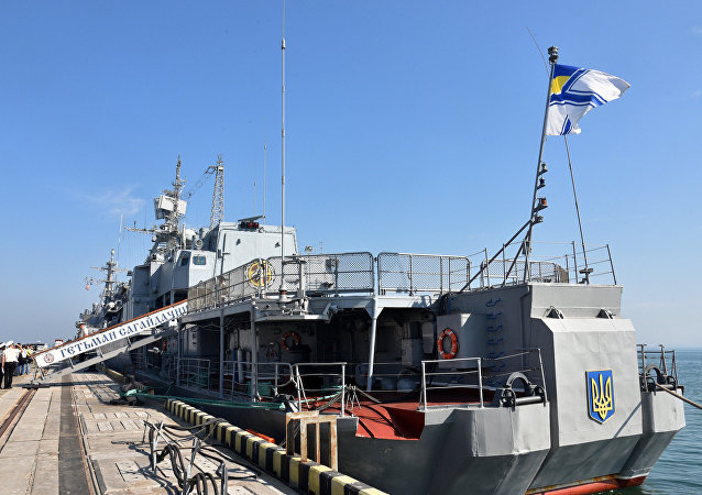Navio almirante da Marinha ucraniana Getman Sagaidachny