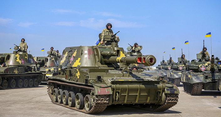 Equipamentos militares (tanque T-80) das Forças Armadas ucranianas (imagem referencial)
