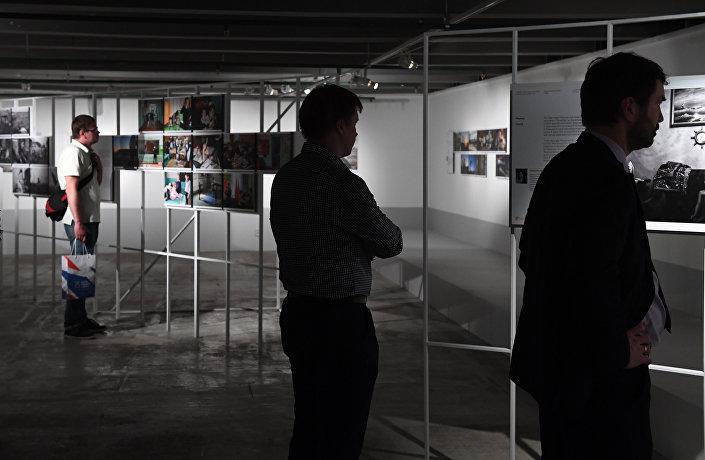Visitantes do concurso de fotos Andrei Stenin