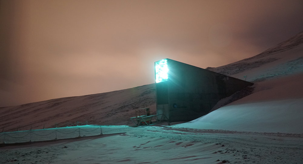 A arca mundial de sementes que fica na região norueguesa de Svalbard, na ilha de Spitsbergen