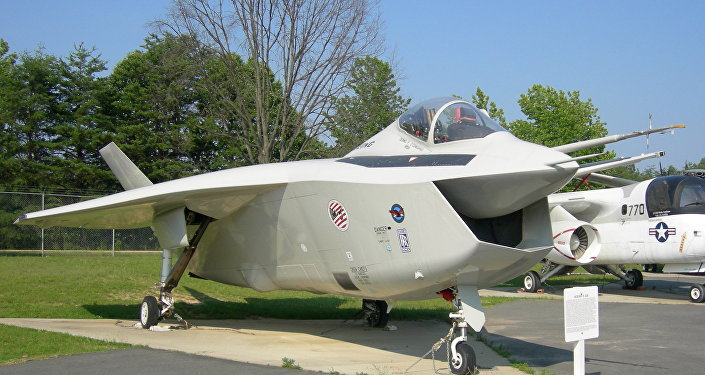 Protótipo do Boeing Joint Strike Fighter X-32B no Museu do Ar de Patuxent River