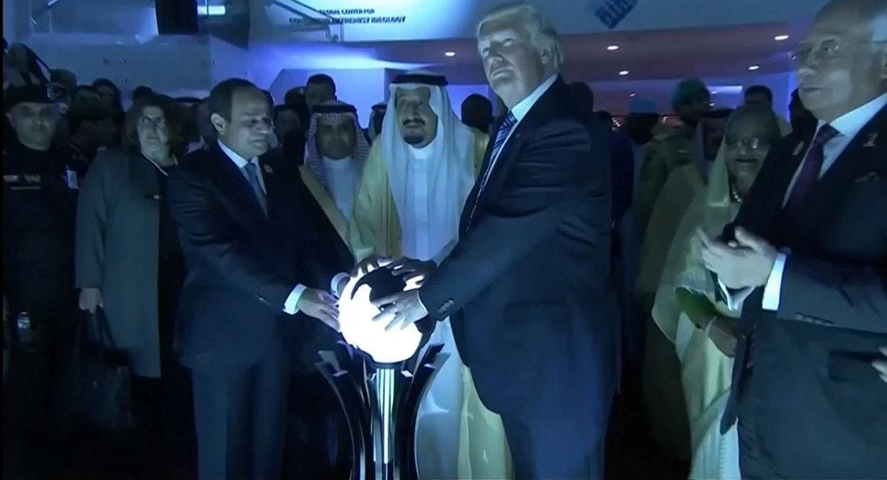 Donald Trump durante sua visita a Riade, Arábia Saudita, 21 de maio de 2017