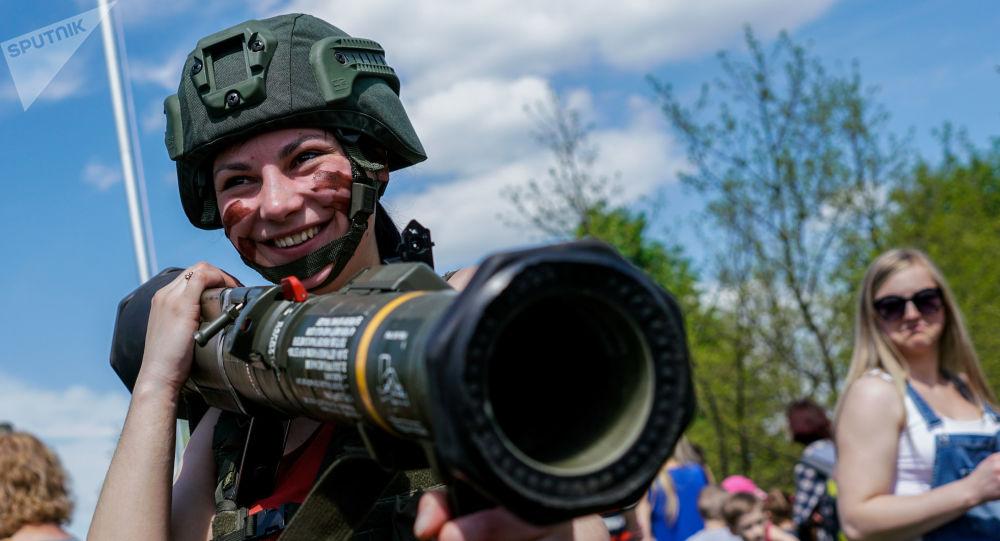 Exposição militar na Lituânia