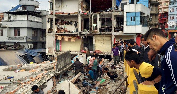 Consequências do terramoto em Katmandu