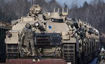Exército dos EUA na Lituânia (foto de arquivo)