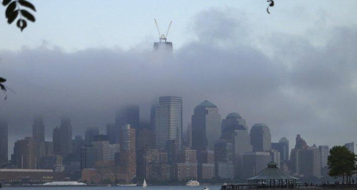 Vista do rio Hudson, em Nova York, Estados Unidos