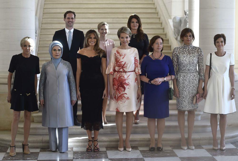 Gauthier Destenay, o marido do Primeiro-ministro do Luxemburgo, Xavier Bettel, durante a cúpula da OTAN em Bruxelas