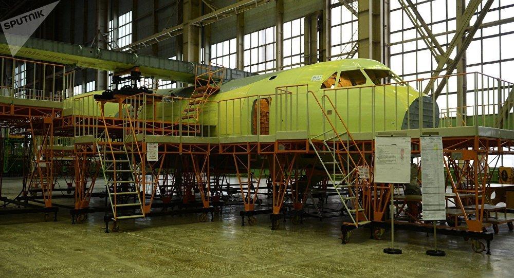 Construção de um novo avião Ilyushin-112 na região de Voronezh, Rússia