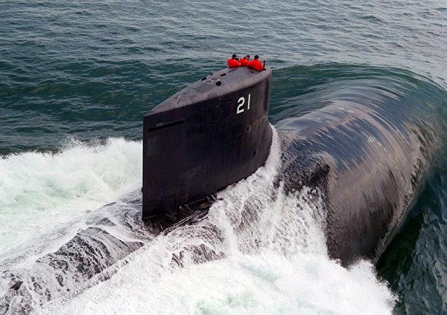 Submarino Seawolf da Marinha norte-americana, foto de arquivo