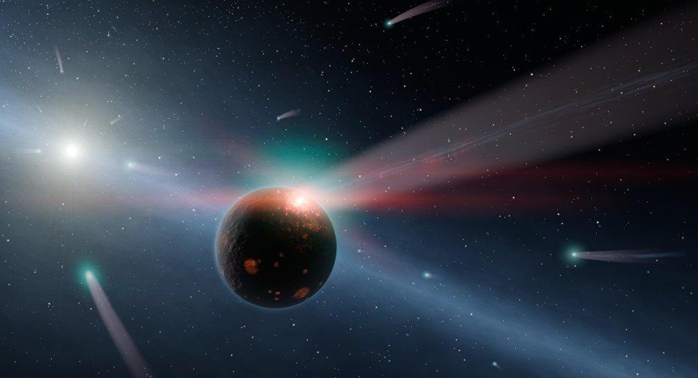 Tempestade de cometas (visão artística)
