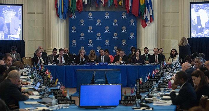Chanceleres se reúnem na OEA para discutir crise venezuelana