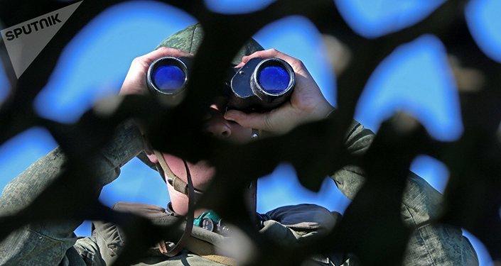 Vigilância na fronteira entre a Rússia e Lituânia