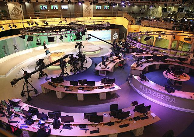 Estúdio da Al-Jazeera International em Doha, Qatar (Arquivo)