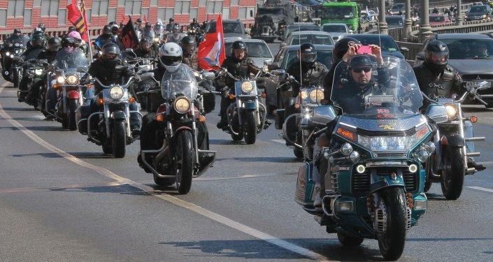 Grupo de motoqueiros russos Lobos Noturnos