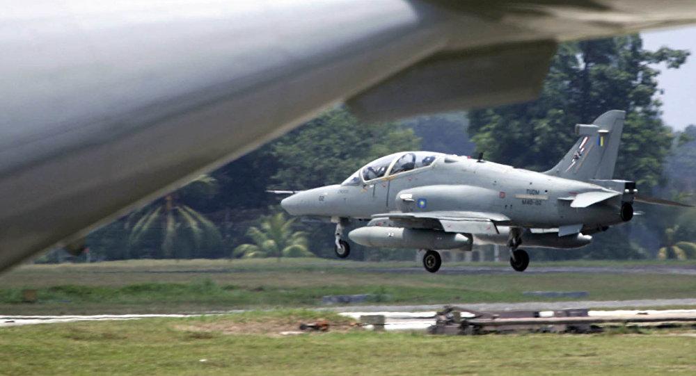 Avião da Força Aérea malaia Hawk aterrisa na base aérea de Kuantan em 15 de setembro 2005 (foto de arquivo)
