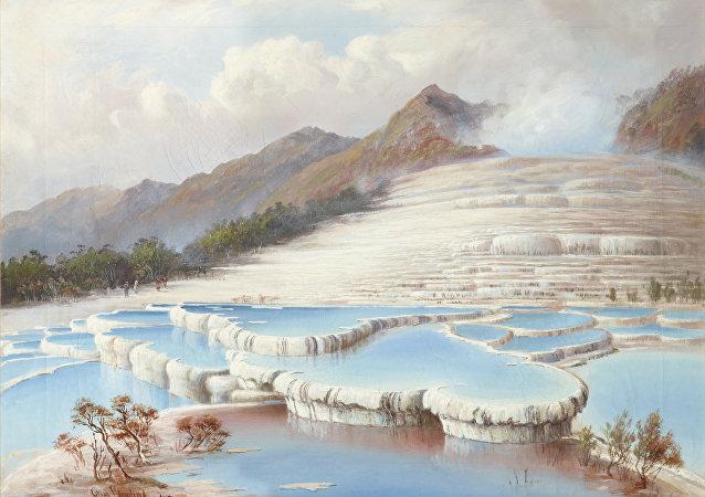 Os Terraços Rosa e Branco da Nova Zelândia estão por baixo de metros de cinza e sua localização tem sido um enigma até hoje