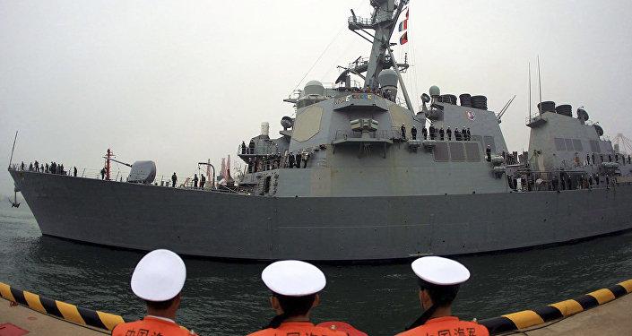 Destróier USS Fitzgerald, da Marinha dos Estados Unidos (arquivo)