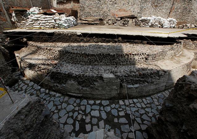 Templo asteca é encontrado no meio da Cidade do México