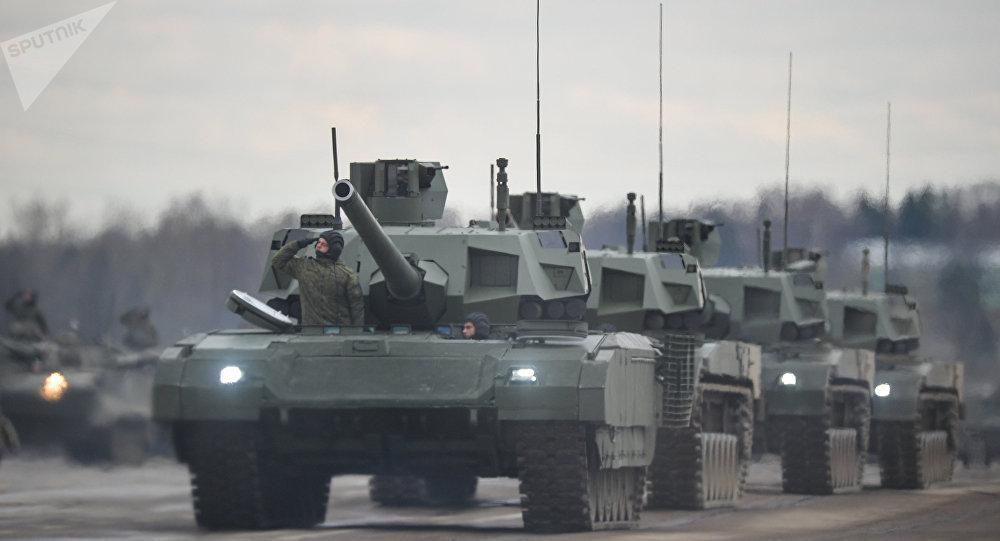 Tanque russo de terceira geração T-14 Armata