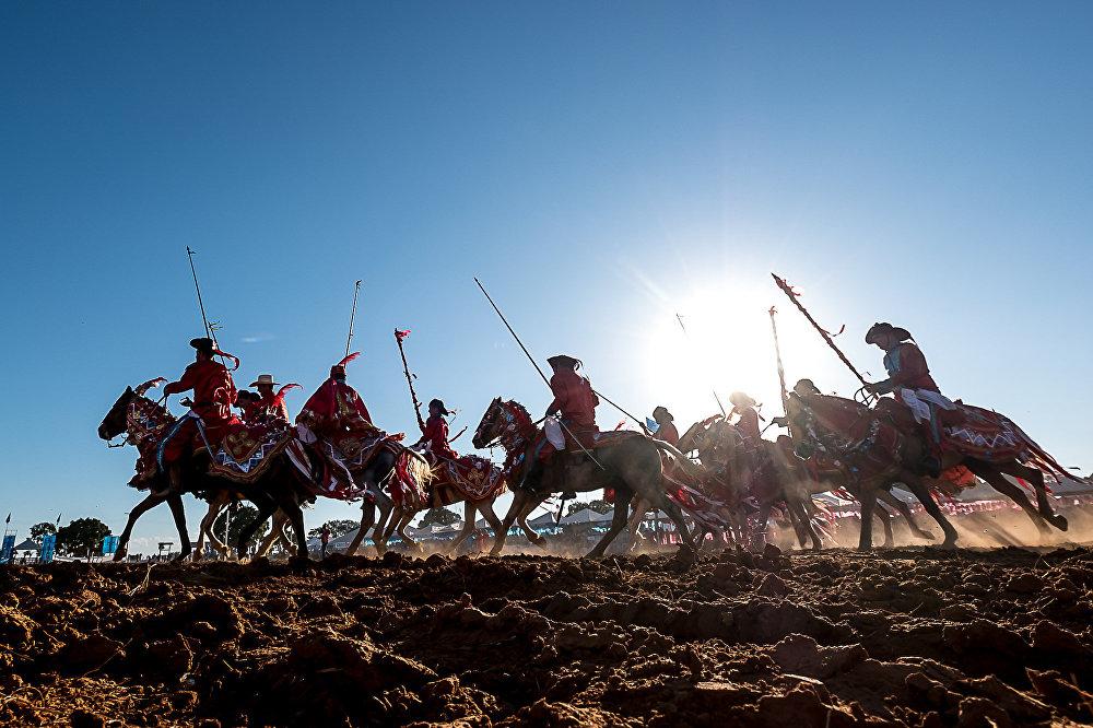 A Cavalhada é uma celebração portuguesa com origem nos torneios da Idade Média